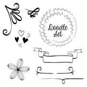 Flat illustration about Doodle design Stock Illustration