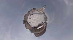 The old city center, The Brasov Council Square, Piata Sfatului 360 planet Stock Footage