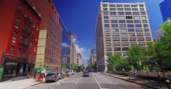 Personal Perspective Driving in New York City Business District Stock Footage