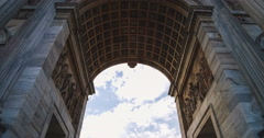 Classical Arch and Fast Clouds Stock Footage