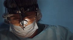 Surgeon close up face Stock Footage