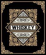 Old  label design for Whiskey and Wine label, Restaurant banner, Beer label.  Stock Illustration