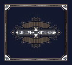 Vintage label design for Whiskey and Wine label, Restaurant banner, Beer labe Stock Illustration