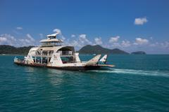 Port ferry boat in Koh Chang Island Stock Photos