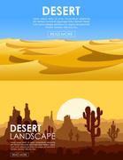 Desert vector set Stock Illustration
