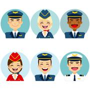 Air Crew Avatars Stock Illustration