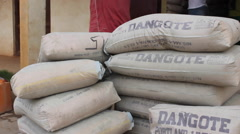 Aliko Dangote brand cement Stock Footage