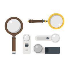 Magnifier loupe icons vector illustration Stock Illustration