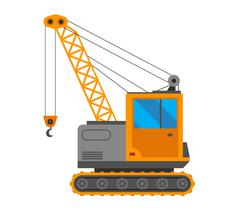Crane truck vector illustration Stock Illustration