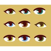 Human eye vector set Stock Illustration