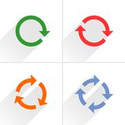 Color arrow loop, refresh, reload, rotation sign Stock Illustration