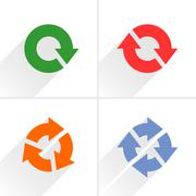 Color arrow loop, refresh, reload, rotation sign Stock Illustration