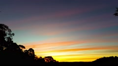 Winter Time Lapse Sunset with Bright Colors  Stock Footage