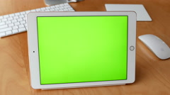 Man using tablet pc with various hand gestures Stock Footage