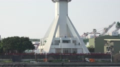 A vessel traffic service center (Control Tower) in Port of Kaohsiung, Taiwan. 4K Stock Footage