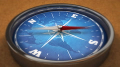 3D Compass Animation Stock Footage