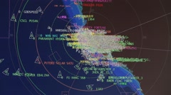 Radar screen in vessel traffic service center (Control Tower). Stock Footage