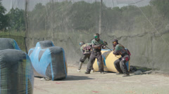 Paintballplayers start to Play in 4K Stock Footage