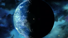 Earth Twin or an Earth like Alien planet or Moon / Earth 2.0 / Kepler-22b Stock Footage