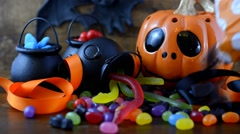 HalloweenCandy Pouring PD Stock Footage