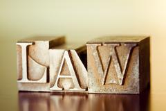 Word LAW Stock Photos