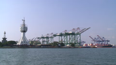 A vessel traffic service center (Control Tower) in Port of Kaohsiung, Taiwan. Stock Footage