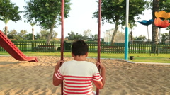 Child at the playgroung Stock Footage
