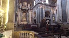 Interior of the Basilica Estrela church - Lisboa, Portugal Stock Footage