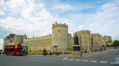 Windsor castle time lapse Stock Footage