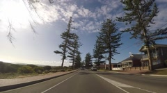 Driving along The Esplanade, Semaphore, Adelaide, South Australia Stock Footage