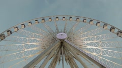 The Liverpool Eye ferris wheel at the Albert docks complex in Liverpool, UK Stock Footage