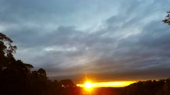 Cold Cloudy Winter Time Lapse Sunset Stock Footage