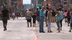 Toronto pedestrians in the streets Stock Footage