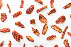 tasty dried tomatoes - stock photo