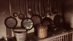 Old kitchen Stock Footage