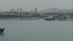 The tanker leaves the Bosphorus Strait Stock Footage