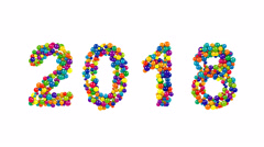 2018 year date for festive New Year celebrations Stock Footage