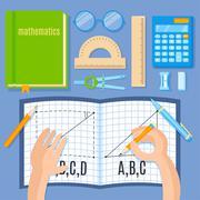 School and education mathematics flat vector illustration. Stock Illustration