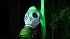 Gas mask covered in slime ooze 2 Stock Footage