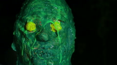Slime monster swamp creature bmovie horror Stock Footage