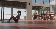 Abs workout routine at home Stock Footage