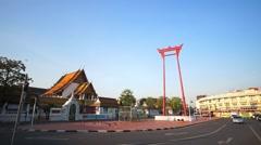Giant Swing Bangkoks landmarks Stock Footage