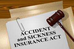 Accident and Sickness Insurance Act - legal concept Stock Illustration