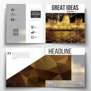 Set of annual report business templates for brochure, magazine, flyer or booklet Stock Illustration
