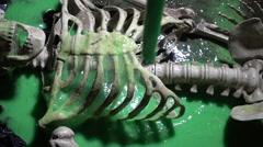Toxic substance on skeleton poison Stock Footage