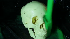 Skull covered in slime Stock Footage