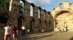 He ancient Church of St. Sophia in Nesebar Stock Footage