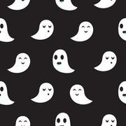 Ghost black seamless pattern Piirros