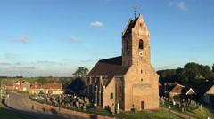 Church with bell sound Stock Footage