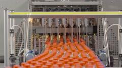 Lemonade bottle conveyor industry  Stock Footage